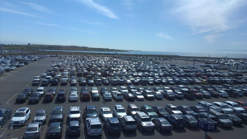 Parking lot at Airport